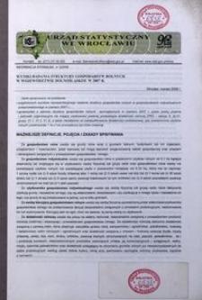 Wyniki badania struktury gospodarstw rolnych w województwie dolnośląskim w 2007 r.