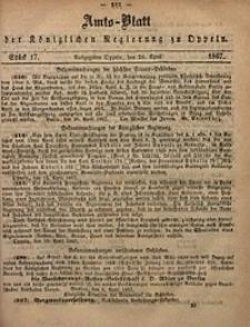 Amts-Blatt der Königlichen Regierung zu Oppeln, 1867, Bd. 52, St. 17