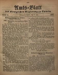 Amts-Blatt der Königlichen Regierung zu Oppeln, 1868, Bd. 53, St. 31