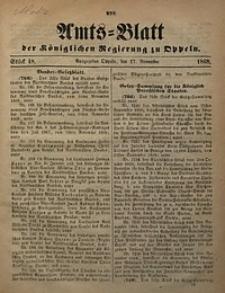 Amts-Blatt der Königlichen Regierung zu Oppeln, 1868, Bd. 53, St. 48