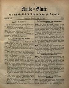Amts-Blatt der Königlichen Regierung zu Oppeln, 1870, Bd. 55, St. 28