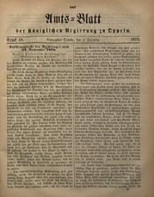 Amts-Blatt der Königlichen Regierung zu Oppeln, 1870, Bd. 55, St. 48