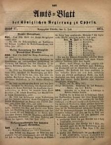 Amts-Blatt der Königlichen Regierung zu Oppeln, 1871, Bd. 56, St. 27