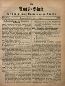 Amts-Blatt der Königlichen Regierung zu Oppeln, 1871, Bd. 56, St. 32