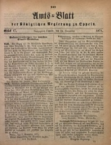 Amts-Blatt der Königlichen Regierung zu Oppeln, 1871, Bd. 56, St. 47