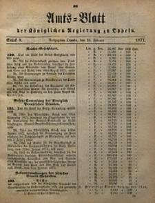 Amts-Blatt der Königlichen Regierung zu Oppeln, 1872, Bd. 57, St. 8