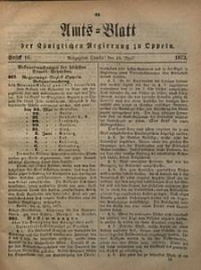 Amts-Blatt der Königlichen Regierung zu Oppeln, 1873, Bd. 58, St. 16