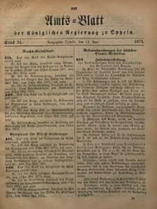 Amts-Blatt der Königlichen Regierung zu Oppeln, 1873, Bd. 58, St. 24