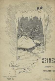 Sfinks. Czasopismo Literackie, Artystyczne i Naukowe 1911, nr 12