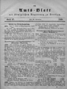 Amts-Blatt der Königlichen Regierung zu Breslau, 1868, Jg. 59, St. 47