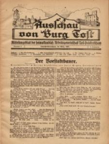 Ausschau von Burg Tost, 1927, Jg. 2, Nr. 3