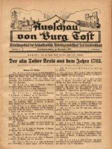 Ausschau von Burg Tost, 1927, Jg. 2, Nr. 9