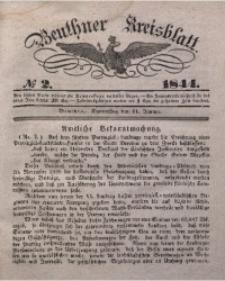Beuthner Kreisblatt, 1844, No 2