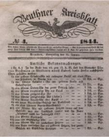 Beuthner Kreisblatt, 1844, No 4