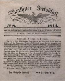 Beuthner Kreisblatt, 1844, No 8