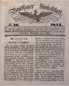 Beuthner Kreisblatt, 1844, No 10