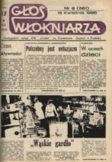 """Głos Włókniarza : dwutygodnik załogi ZPB """"Frotex"""" im. Powstańców Śląskich. R. 27, nr 8 (561) [563]."""
