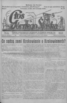Głos Górnego Śląska, 1928, R. 8, nr 17
