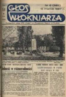 """Głos Włókniarza : dwutygodnik załogi ZPB """"Frotex"""" im. Powstańców Śląskich w Prudniku. R. 28, nr 6 (583) [585]."""