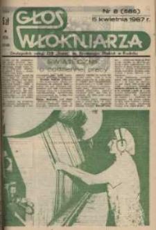 """Głos Włókniarza : dwutygodnik załogi ZPB """"Frotex"""" im. Powstańców Śląskich w Prudniku. R. 28, nr 8 (585) [587]."""
