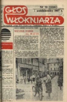 """Głos Włókniarza : dwutygodnik załogi ZPB """"Frotex"""" im. Powstańców Śląskich w Prudniku. R. 28, nr 19 (596) [598]."""