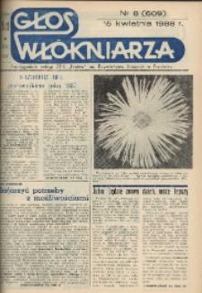 """Głos Włókniarza : dwutygodnik załogi ZPB """"Frotex"""" im. Powstańców Śląskich w Prudniku. R. 29, nr 8 (609) [611]."""