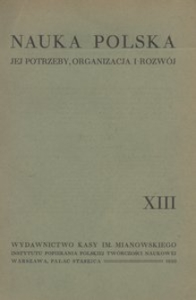 Nauka Polska, 1930, R. 13