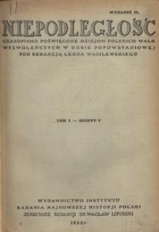 Niepodległość, T. 1 (październik 1929 - marzec 1930)