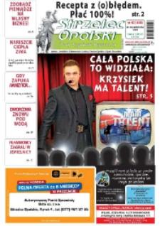 Strzelec Opolski : twój tygodnik regionalny : Izbicko, Jemielnica, Kolonowskie, Leśnica, Strzelce Opolskie, Ujazd, Zawadzkie 2009, nr 42 (538).