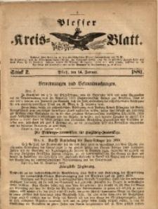 Plesser Kreis-Blatt, 1881, St. 2