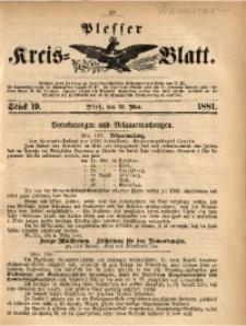 Plesser Kreis-Blatt, 1881, St. 19