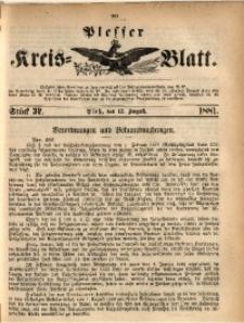 Plesser Kreis-Blatt, 1881, St. 32