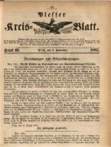 Plesser Kreis-Blatt, 1881, St. 35