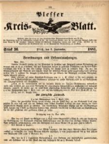 Plesser Kreis-Blatt, 1881, St. 36