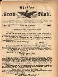 Plesser Kreis-Blatt, 1881, St. 42