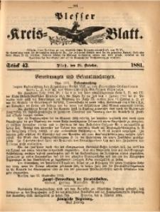 Plesser Kreis-Blatt, 1881, St. 43