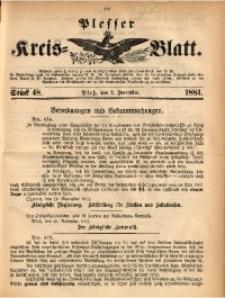 Plesser Kreis-Blatt, 1881, St. 48