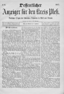 Oeffentlicher Anzeiger für den Kreis Pleß, 1877, No 6