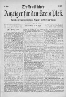 Oeffentlicher Anzeiger für den Kreis Pleß, 1877, No 33