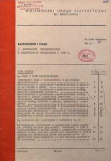 Zatrudnienie i płace w gospodarce uspołecznionej w województwie wrocławskim w 1978 r.