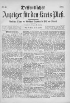 Oeffentlicher Anzeiger für den Kreis Pleß, 1877, No 41