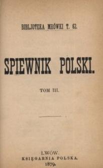 Spiewnik polski. T. 3