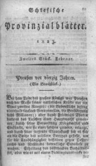 Schlesische Provinzialblätter, 1823, 77. Bd. 2. St.: Februar