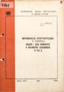 Informacja statystyczna z zakresu urządzeń i usług komunalnych w województwie jeleniogórskim w 1975 r.