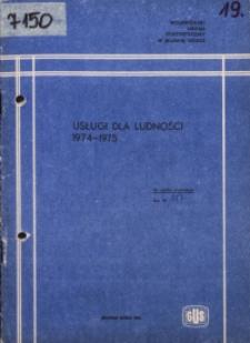 Usługi dla ludności 1974-1975
