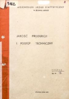 Jakość produkcji i postęp techniczny