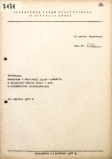 Informacja kwartalna o realizacji zadań planowanych w rolnictwie według miast i gmin w województwie jeleniogórskim, III kwartał 1977 r.
