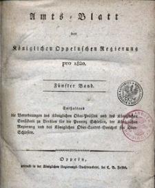 Amts-Blatt der Königlichen Oppelnschen Regierung pro 1820, 5. Bd.