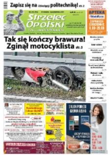 Strzelec Opolski : twój tygodnik regionalny : Strzelce Opolskie, Izbicko, Jemielnica, Kolonowskie, Leśnica, Ujazd, Zawadzkie, Toszek 2014, nr 39 (790).