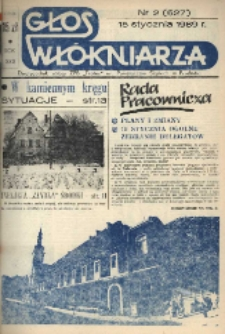 """Głos Włókniarza : dwutygodnik załogi ZPB """"Frotex"""" im. Powstańców Śląskich w Prudniku. R. 30, nr 2 (627) [629]."""